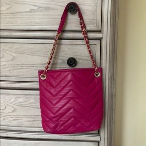 Talbots Quilted leather convertible strap purse